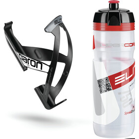 Elite Kit Supercorsa/Paron Bottle & Holder 0.75 litres, clear/red/black/white
